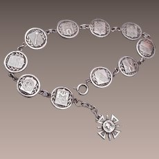 Silver French Travel Bracelet