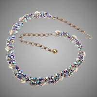 BSK AB Rhinestone Necklace