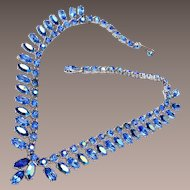 Blue AB Rhinestone Necklace