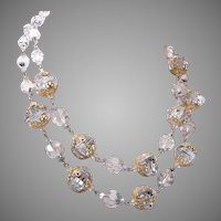 2 Strand Vendome Crystal and Filigree Necklace