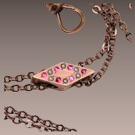 """50"""" Slide Necklace With Rubies and Pearls"""