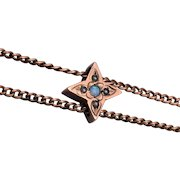 """Pearl and Opal Star Shaped Gold Filled Slide on 50"""" Chain"""