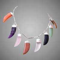 Real Stone Tooth Necklace