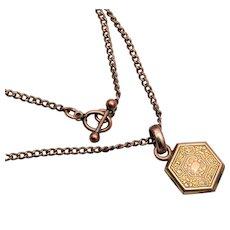 Gold Filled Locket Necklace