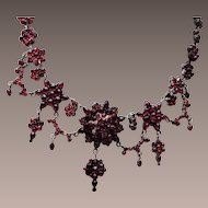 Spectacular Bohemian Garnet Necklace!