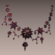 Spectacular Bohemian Garnet Necklace!