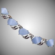 Light Blue Thermoset Necklace