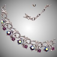 Star Purple AB Rhinestone Necklace