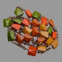 """Bakelite Necklace 60"""" of Bakelite"""