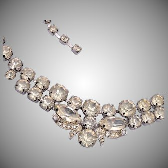 Eisenberg Ice Prong Set Rhinestone Necklace