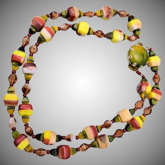 Art Glass West Germany Necklace