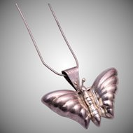 Sterling Mexico Butterfly Brooch or Necklace