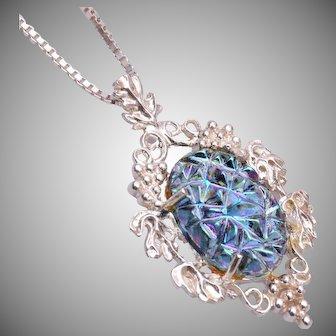 KBN Sterling Lava Stone Necklace
