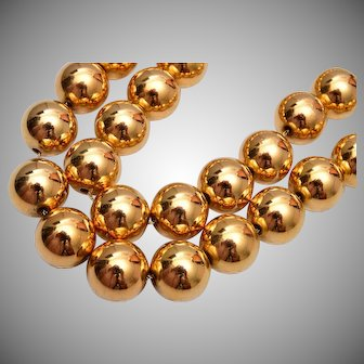 Joan Rivers Classic Collection 2 Strand Gold Tone Beaded Necklace