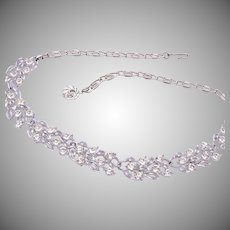 Lisner Clear Rhinestone Necklace
