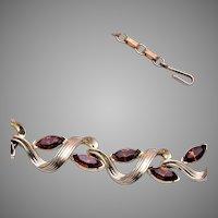 Lisner Brown Rhinestone Necklace