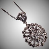 Sterling and Marcasite Necklace