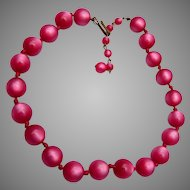 Red Moonstone Lucite Necklace