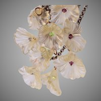 3 Strand Lucite Jelly Flower Necklace