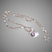 Blister Pearl Duck and Mother of Pearl Necklace