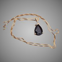 Vermeil Sterling and Onyx Necklace