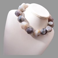 Natural Faceted Stone Necklace