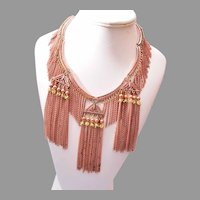 Copper Dangling Chain Necklace