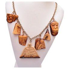 Beautiful African Necklace, Brooch and Earring Set