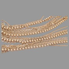 Long 6 Strand Chain Necklace