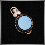 Beautiful Fob or Pendant With Glass Center
