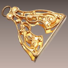 Gold Tone Watch Fob