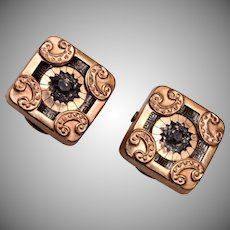 1883 Gold Filled Cufflinks With Stone