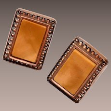 Old Gold Filled and Stone Cuff Links