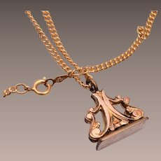 Gold Filled Watch Fob Necklace