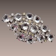 Coro Duette Clear Unfoiled Rhinestone Dress Clips