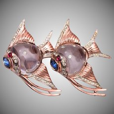 1944 Sterling Jelly Belly Fish Duette