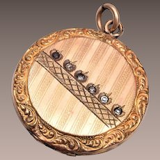 Gold Filled Locket with Stones