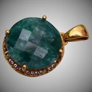 Green Stone Pendant or Charm