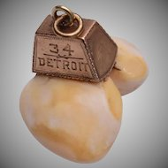 14kt Double Elks Tooth Fob - 1934