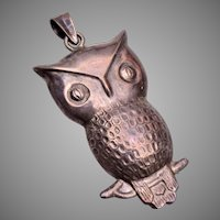 Sterling Silver Owl Charm or Pendant