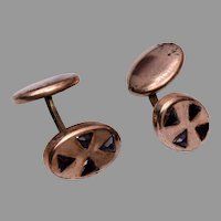 Beautiful Gold Filled Cufflinks with 4 Purple Stones