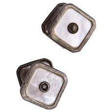 Snap Link Mother of Pearl Cuff Links