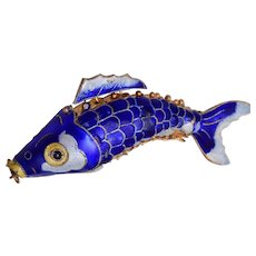Blue Articulated Fish Pendant