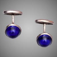 Blue Jelly Cuff Links