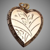 Sterling Vermeil Heart Shaped Locket