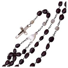 Mother of Pearl Crucifix Rosary