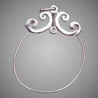 Sterling Charm Holder Necklace