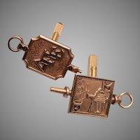 Delta Pi Epsilon 14kt/10kt Gold Cufflinks