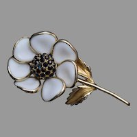 Pour Glass Flower Brooch