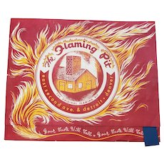 The Flaming Pit Menu 1950's FUN!!